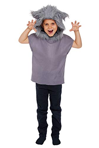 CHILDS WOLF COSTUME - LARGE (10 - 12 YEARS)