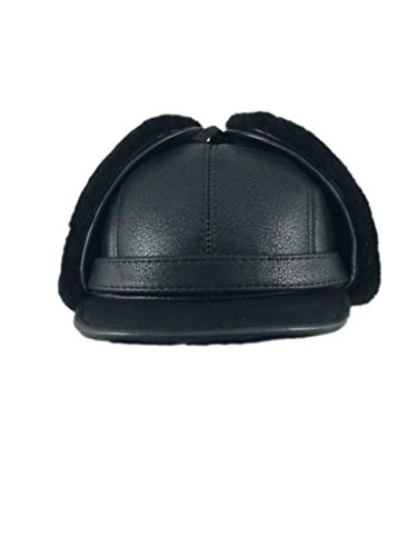 zavelio-womens-shearling-sheepskin-elmer-fudd-visor-hat-xx-large-solid-black
