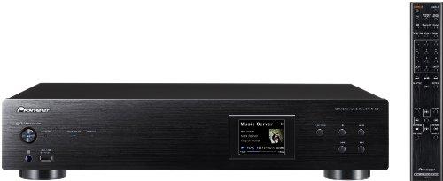Pioneer N-50-K Netzwerk Multimediaplayer (Airplay, DLNA, WLAN, 2x USB) Aluminium/schwarz
