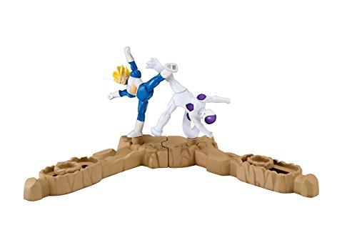 Giochi Preziosi–Dragon Ball Super Spin Battlers 2Figuras y 2Basi, Goku Super Sayan vs Majin–Buu Vegeta Super Sayan vs Freezer