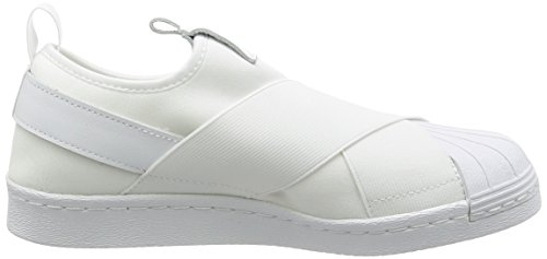adidas Superstar Slip On, Chaussures de Tennis Femme Weiß