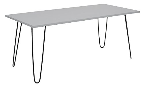 ts-ideen Design Table Basse Salon Table d'appoint MDF - Bois en Gris 107 x 49,5 cm