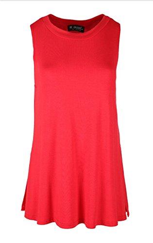 Sugerdiva Damen Blusen Kleid schwarz schwarz Rot