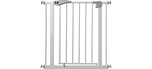 IB-Style - Treppengitter / Türgitter BERRIN zum Klemmen | 75 - 175 cm Erweiterbar durch Verlängerungen | Auto-Close - automatisches Schließen | 90° Stop-Funktion | Einhand-Bedienung | Öffnen in beide Richtungen | Metall Weiß | Spannbreite 75 - 85 cm - 2