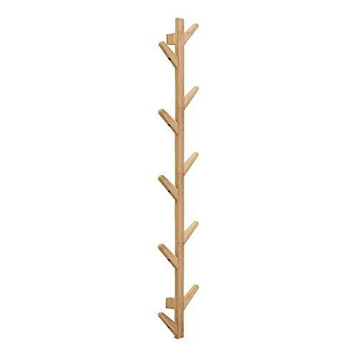 garderobe baum ikea X&MX Kleiderständer, Bambus Baum Wand Aufhänger Speicherorganisator Mantel Hut Rack Haken Für Home Schlafzimmer Dekoration,123Cm