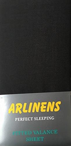 ARLINENS Plain Dyed Polycoton ajusté Tour de lit Feuilles en suivant Couleurs et Tailles - Noir, Simple, Polycoton