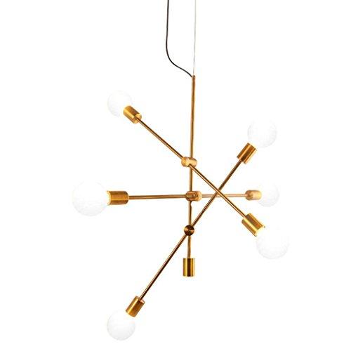 QAZ Nordic Kronleuchtern, postmodernen Magischen Bohnen Art Restaurant Glaskugel Zweige molekulare Wohnzimmer Kronleuchter Beleuchtung (Farbe: warmes Licht - A)