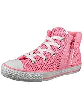 Converse Chucks Kinder 656060C Chuck Taylor All Star Sport Zip Crochet HI Pink Glow Neo Pink White