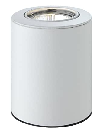 Firstlight 5080WH GU10 1 x 240 V 50 Watt Floodlite Uplight Table Floor Lamp, White