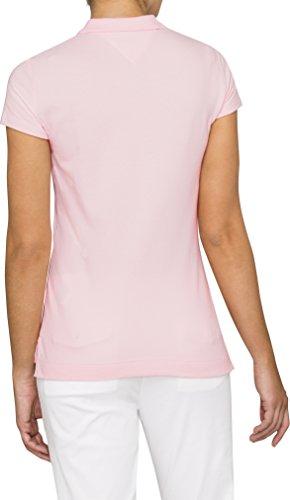 Tommy Hilfiger Damen Poloshirt New Chiara Str PQ Polo SS Rosa (BALLERINA 680)