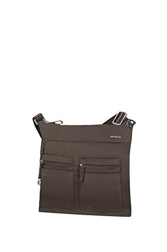 Samsonite Move 2.0 Flat Shoulder Bag iPad Bolso Bandolera, 3.84 Litros, Color Marrón Oscuro