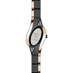 Garde' Elegance Damenuhr Titan schwarz rose' beschichtet 24446
