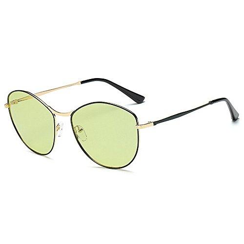 Yiph-Sunglass Sonnenbrillen Mode Polarisierende Sonnenbrille der kleinen ovalen Form Frauen Vollbild-UV-Schutz, der Reisende Sonnenbrille für alle Gesicht fährt (Farbe : Grün)