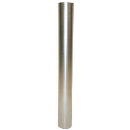 Kamino Flam Ofenrohr silber, feueraluminiertes Rauchrohr aus Stahl für sichere Ableitung von Verbrennungsgasen, rostfreies Kaminrohr, geprüft nach Norm EN 1856-2, Maße: L 1000 x Ø 100 mm