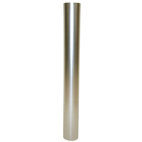 Kamino-Flam Tubo para Chimenea, Acero, Plata, L 1000 x Ø 100 mm