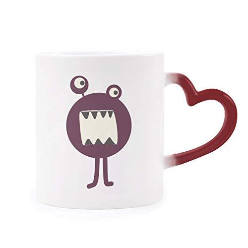 DIYthinker Universum Und Alien Monster Morphing Becher-Hitze-Sensitive rotes Herz-Cup Mehrfarbig