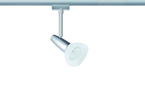 Preisvergleich Produktbild URail,  Halogen-Spot,  1x40W,  Barelli 230V,  GZ10,  Chrom matt / Opal Einzelleuchte,  URail 1-Phasen-Schienensystem 230V,  inklusive Leuchtmittel
