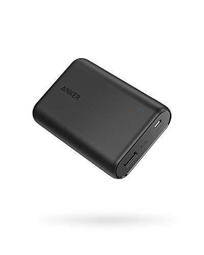 Anker PowerCore 10000mAh externer Akku, die kleinere und leichtere Powerbank, extra kompakt für iPhone X 8 8Plus 7 6s 6Plus, iPad, Samsung Galaxy und weitere Smartphones(Schwarz) (Anker Mobile Power Bank)