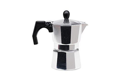 Cafetière moka de Tivoli /fait d'aluminium/approprié à 3 tasses de café beau/argenté/facile à utiliser