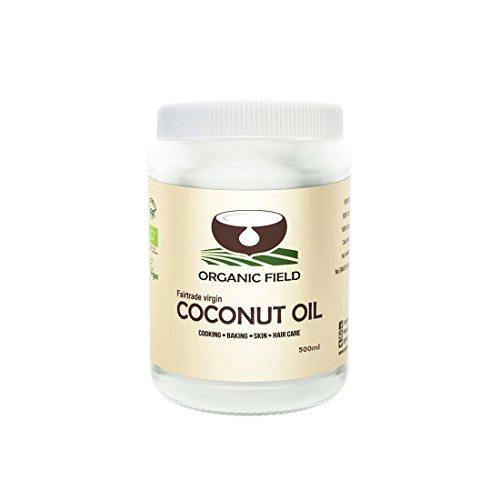 PET 500ml BIO Kokosöl von Organic Field   Kochen, Backen, Haarpflege und Hautpflege,