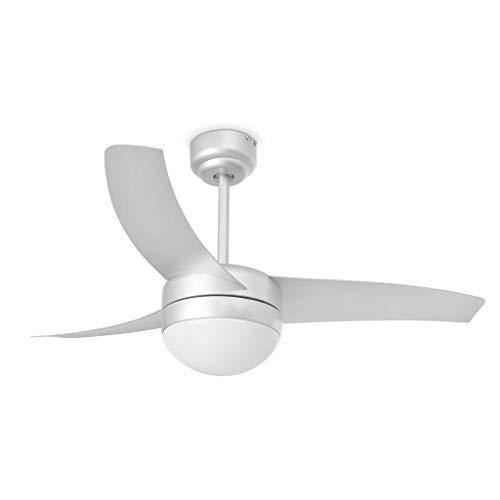 Faro Barcelona 33416 - EASY Ventilador de techo con luz, 15W, acerp....