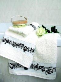 Handtuch mit Notenaufdruck Geschenke für Musiker Aufdruck mit Noten