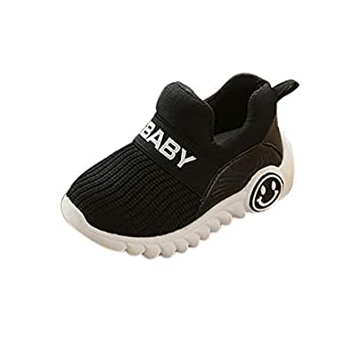 Boomboom Baby'Shoes Baby Boys and Girls Soft Bottom Outdoor Sneaker First Walkers Shoes Black 22