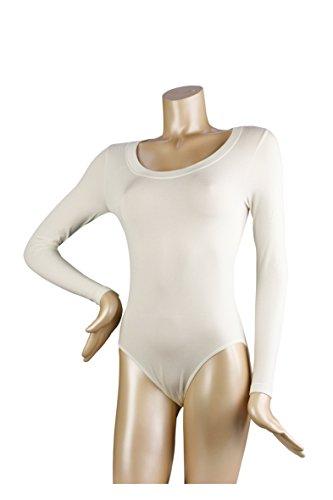 FALKE Damen Body 40911 Round N. LS BO ivory (2179)
