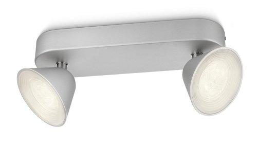 Farbe Spot (Philips myLiving Spot–Spot-Licht (Innen, gebürstet, LED, Farbe Weiß, Schlafzimmer, Wohnzimmer, IP20))