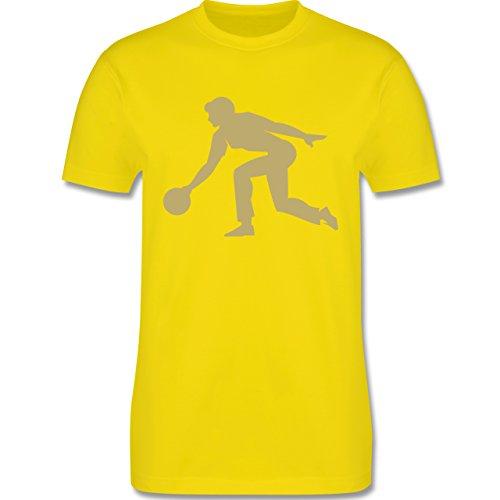Bowling & Kegeln - Keglerin - Herren Premium T-Shirt Lemon Gelb