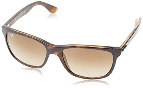 Ray Ban Unisex Sonnenbrille Wayfarer, Gr. Large (Herstellergröße: 57), Braun (Gestell: Havana, Gläser: Braun Verlauf 710/51)