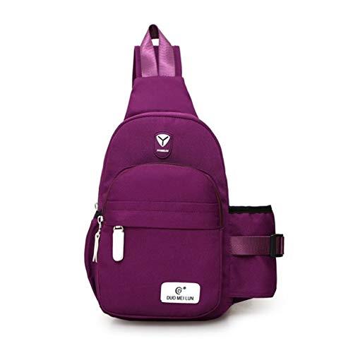 EdBerk74 Stilvolle Frauen Wasserdichte Nylon Crossbody Schulter Brusttasche Lässig Reisen Wandern Rucksack Große Reißverschlusstasche für Geschenk -