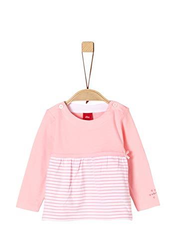 s.Oliver Baby-Mädchen 65.903.31.8647 Langarmshirt Rosa (Light Rose 4136), Herstellergröße: 80