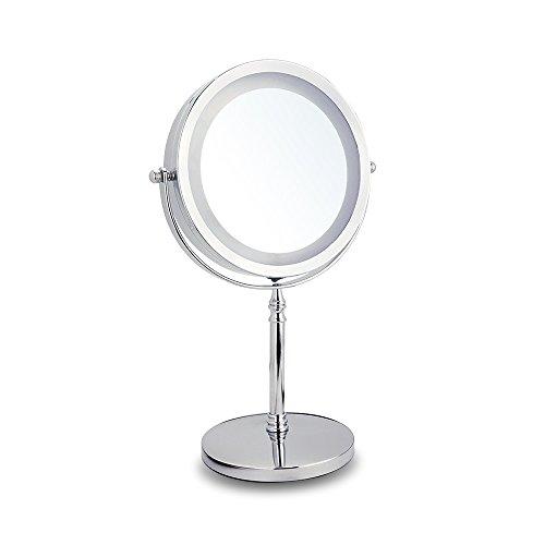 LED Kosmetikspiegel mit Licht 10fach Vergrößerungsspiegel, 1X/10X Spiegel mit Beleuchtung...