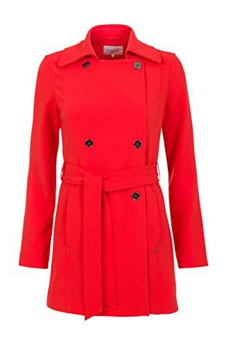 Promiss Damen Damen Coat Cetra - Kurzer Trenchcoat Aus Einer Weich Fallenden Viskosemischung Rot, 038