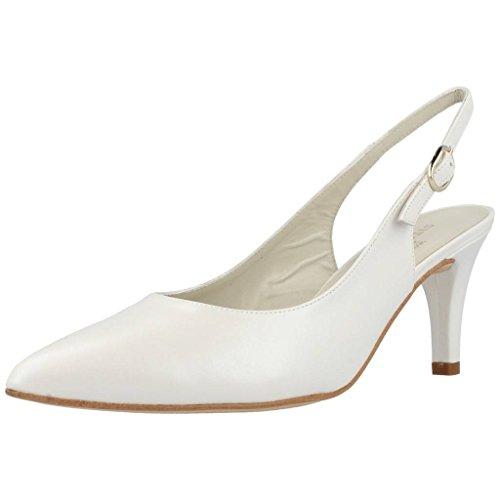 Zapatos TAC�n, Color Blanco NACARADO, Marca ARGENTA