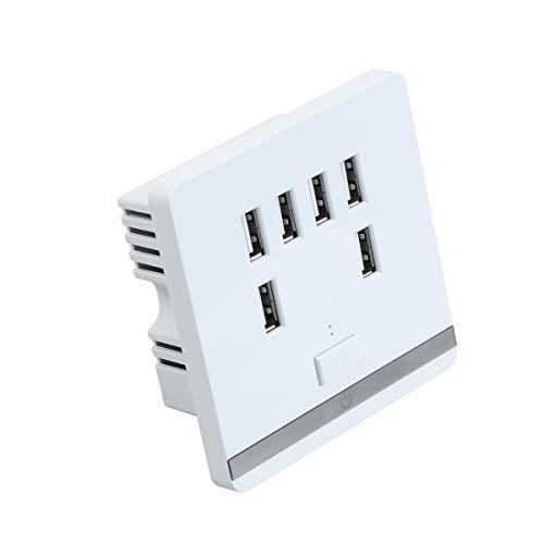 6 Port Panel (Universal 36 V zu 5 V 6 Ports USB Wand Steckdose Ladegerät Intelligente Ladegerät Platte Panel Tool Für Smartphones)