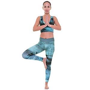 RobeCode Damen Sport Leggings Jala - Ideal für Yoga Fitness Sport Pilates Laufen - Perfekte Passform - Gym Wear