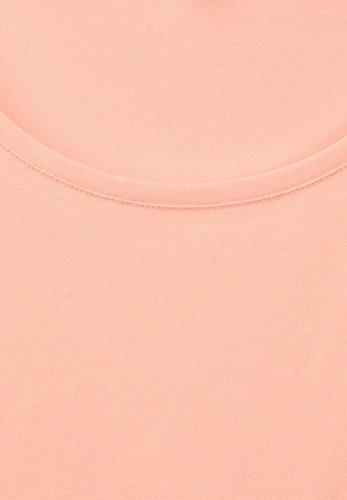Street One Damen Organic Halbarm Shirt Lenka lucky peach (orange)