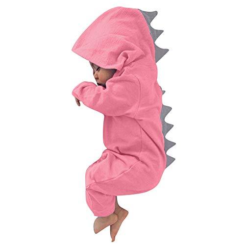 Selou Babyjunge Dinosaurier Hoodie Kinderoverall Reißverschlußkleidung für Kinder OverallWarme süße Nachtwäsche Pyjamas Kletteranzug Ha Yi Herbst- und Wintersaison sets -