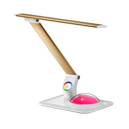 LED Schreibtischlampe Seltsame Neue SSDA Oberflächenlicht LED Augenschutz Schreibtischlampe Aluminium Folding Büro Bunte Atmosphäre Tischlampe ( Color : Gold )