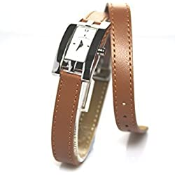 Jacques Du Manoir Swiss Made Ladies Tan Brown Strap Watch