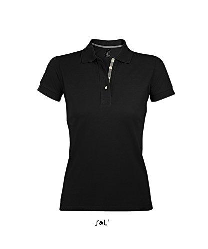 L588 Women Polo Shirt Portland Polohemd Red-Grey (Solid)