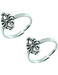 Style A Bit Sterling Silver Toe Ring Set -O For Women TOE003