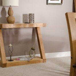 Z Oak Designer Console Table