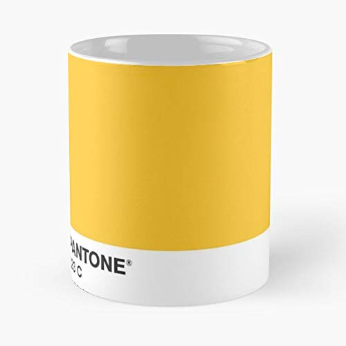 Pantone 123C Yellow Rust - Best Gift Mugs Mustard Wes Anderson Hipster Aesthetic Style Mug Coffee For Gifts Cup Women Tumbler Cups Best Personalized Gifts