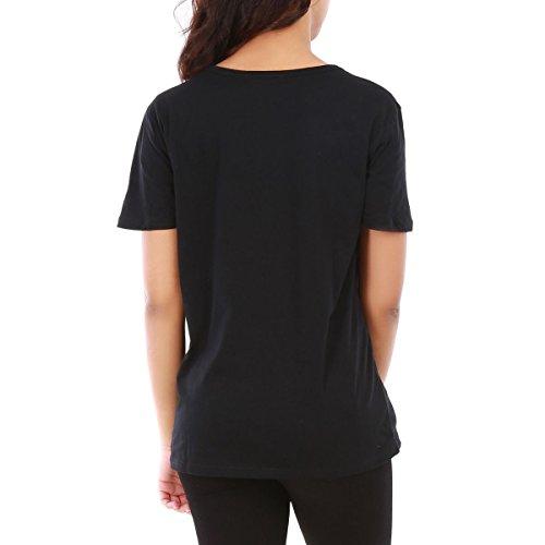 La Modeuse - T-shirt long femme Noir
