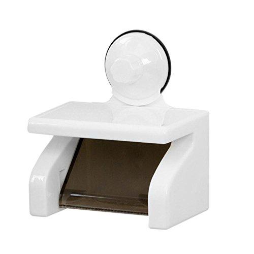 Matefield Kunststoff Wasserdicht Starke Sucker Toilettenpapierhalter taschentuchboxen Regal (Glas-schiebe-regale)