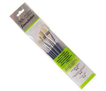 Winsor & Newton 5295025 Set di pennelli, legno, Multicolore, 7