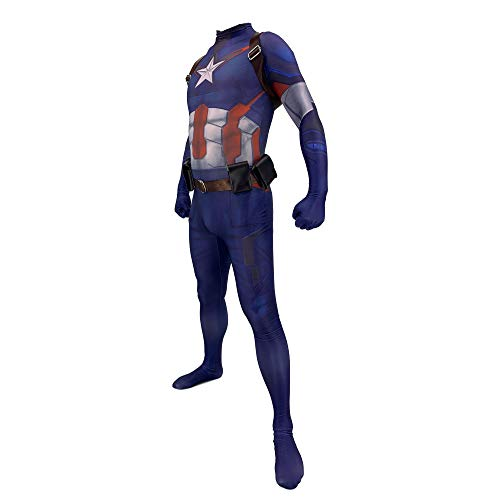 Captain America Kostüm Herren Kind Superhelden Kostüme Erwachsene Verkleidung Kinder,Luxuskleidungjunge,Halloween Karnevals Cosplay Kostüm,Child-L(120-130)